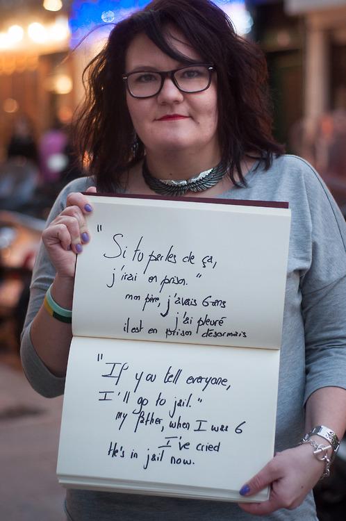 Fotógrafa Retrata Vítimas De Abuso Sexual Segurando Frases Dos Seus