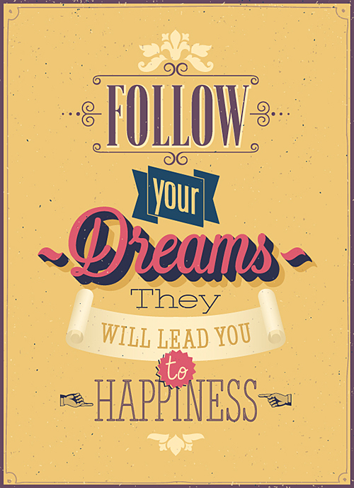 Follow your dreams by Shutterstock