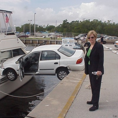 woman driver accident